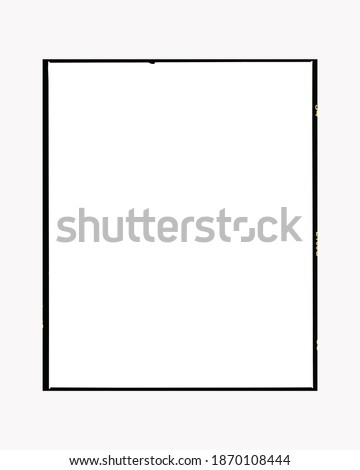 Cut 120 film strip border isolated on background Royalty-Free Stock Photo #1870108444