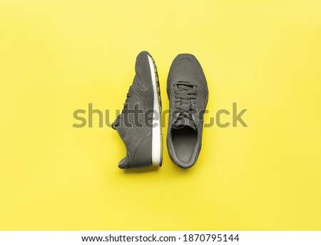 One Pair Illuminating and Ultimate gray Pantone color of the year 2021 sport shoes