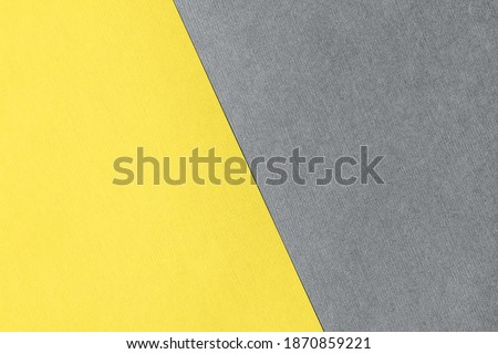 Paper for pastel overlap in trendy yellow and grey colors for background, banner, presentation template. Color 2021 concept. Creative modern background design in trendy colors. Royalty-Free Stock Photo #1870859221