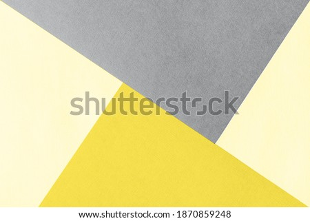 Paper for pastel overlap in trendy yellow and grey colors for background, banner, presentation template. Color 2021 concept. Creative modern background design in trendy colors. #1870859248