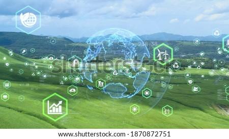 Environmental technology concept. Sustainable development goals. SDGs. Royalty-Free Stock Photo #1870872751
