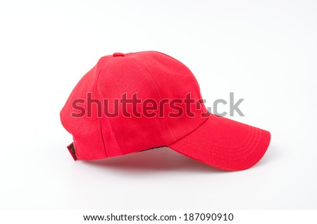 Baseball cap isolated white background #187090910