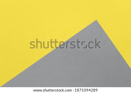 Color of the year 2021 illuminating and ultimate gray pantone. Texture of illuminating and ultimate gray colored paper for watercolor and pastel. Modern luxury background or mock up, space for text