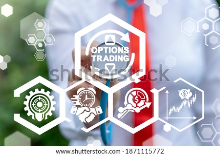 Options Trading Finance Concept. Modern Trade Market Technology. Royalty-Free Stock Photo #1871115772