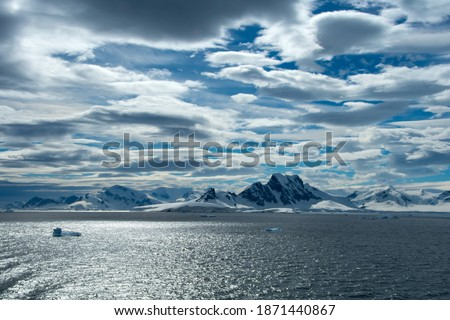 The beautiful extreme terrain on Antarctica. Royalty-Free Stock Photo #1871440867