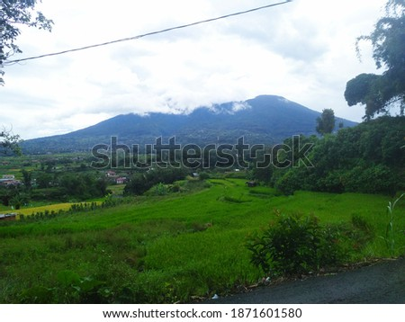 Mount Marapi is a complex volcano in West Sumatra, Indonesia. Its name means Mountain of Fire, and it is the most active volcano in Sumatra. Its elevation is 2,891.3 metres.  #1871601580