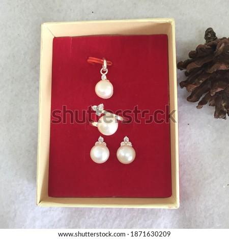 Beautifull silver jewelry combination pearl