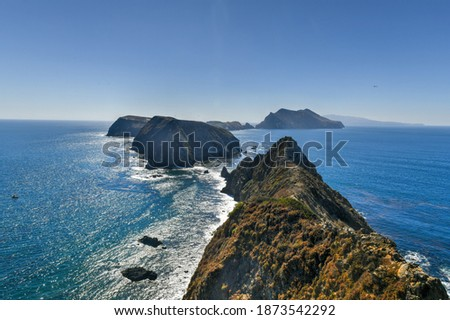 View from Inspiration Point, Anacapa island, California in Channel Islands National Park. Royalty-Free Stock Photo #1873542292