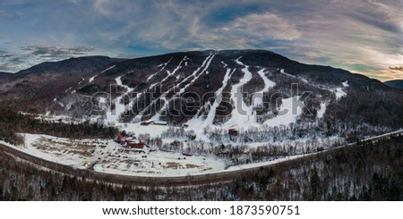 Wildcat Mountain New Hampshire Panorama Royalty-Free Stock Photo #1873590751