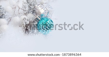 christmas tree toy, winter background
