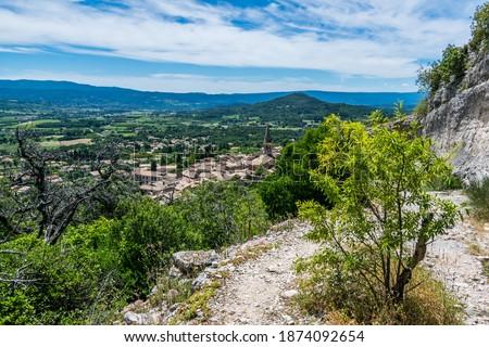 Saint-Saturnin-lès-Apt, medieval hilltop village in the Luberon in Provence-Alpes-Côte-d'Azur. Royalty-Free Stock Photo #1874092654