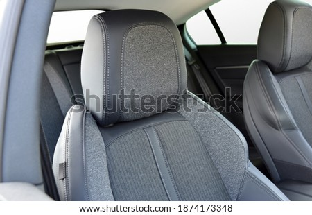 Headrest on a car seat Royalty-Free Stock Photo #1874173348