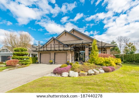 Luxury house at sunny day in Vancouver, Canada. #187440278