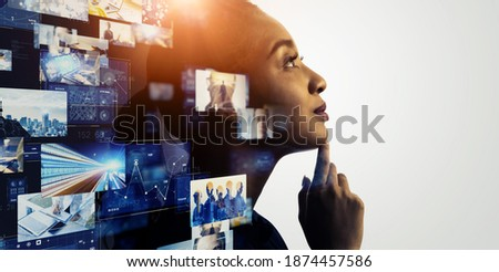 Creative concept. Creator. Visual contents.  Royalty-Free Stock Photo #1874457586