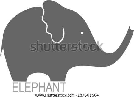 Elephant sign - vector illustration