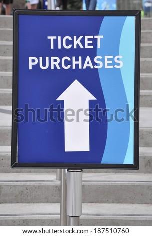 Ticket Purchase signage