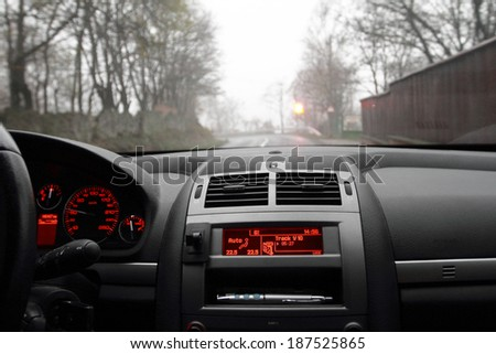 Photo of a dashboard in a foggy morning #187525865
