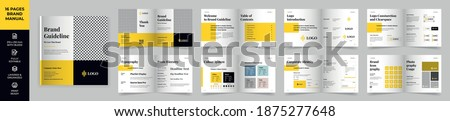 Square Brand Manual Template, Simple style and modern layout Brand Book, Brand Identity, Brand Guideline, Guide Book Royalty-Free Stock Photo #1875277648