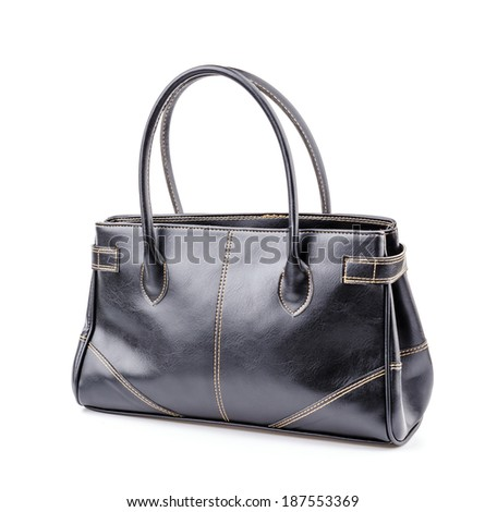 Woman leather bag isolated white background #187553369