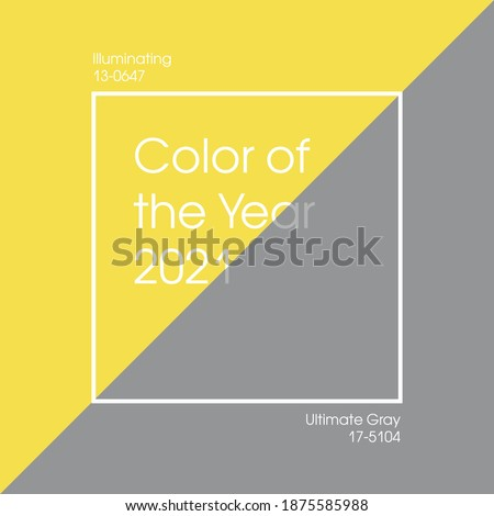 Trending Colors of the Year 2021. Color pattern, vector illustration. Grey, Yellow, Ultimate Gray and Illuminating.  Royalty-Free Stock Photo #1875585988