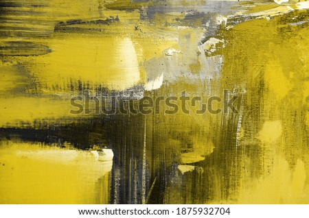 oil Paint textures with space for text or image. Illuminating and Ultimate gray Pantone color of the year 2021
