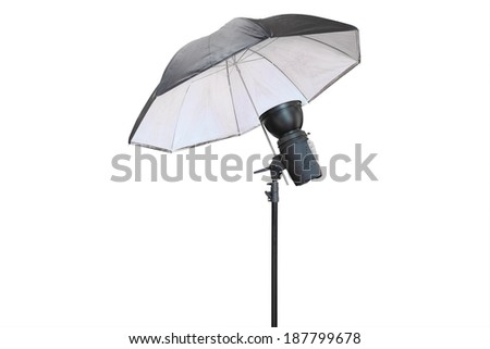 Studio lighting isolated under  the white background