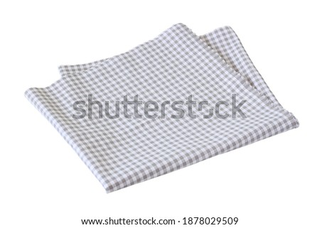 Placemat  Scotch pattern  grey-white on white background