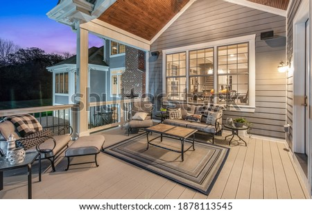 Twilight Real Estate Photography House Royalty-Free Stock Photo #1878113545