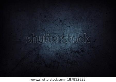 Blue grunge textured wall closeup #187832822