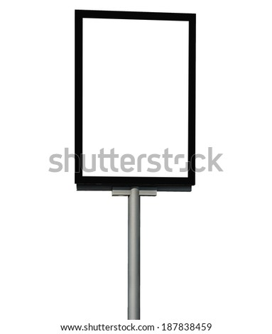blank advertising mupi billboard isolated in white background