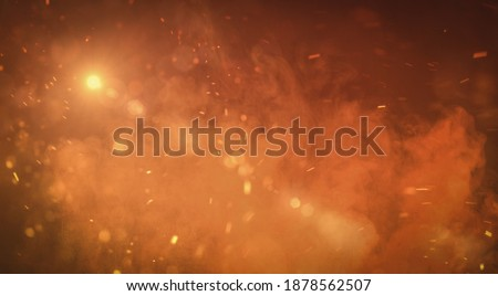 battlefield, smokes and disaster scenario background Royalty-Free Stock Photo #1878562507