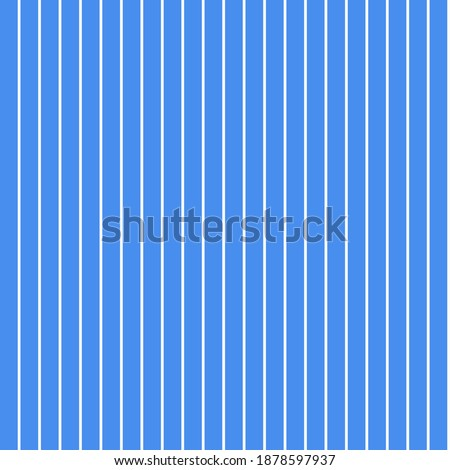Seamless pattern of thin white stripes on a blue background. Repeating striped background. Royalty-Free Stock Photo #1878597937