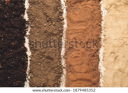 Different types of soil as background Royalty-Free Stock Photo #1879485352