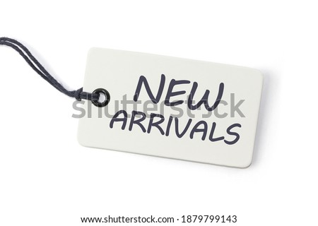 Handwriting text writing New Arrivals. Concept meaning the introduction of something new such as a product or service  Royalty-Free Stock Photo #1879799143