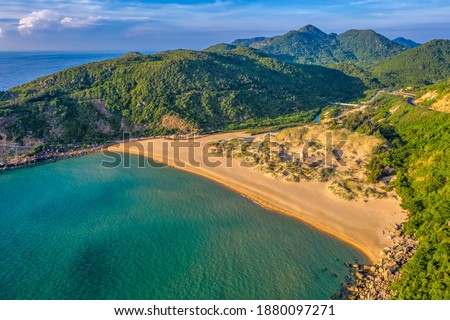 Mon beach near Dai Lanh lighthouse, Phu Yen, Vietnam Royalty-Free Stock Photo #1880097271