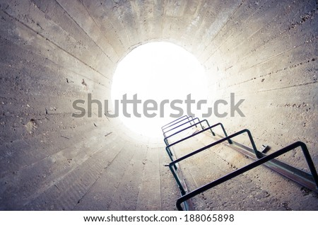 concept - light at the end of the tunnel #188065898