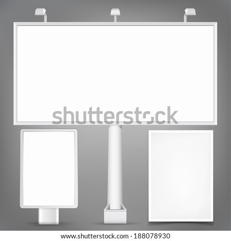 Set of Advertising elements. Vector templates for your design. #188078930