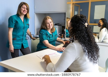 receptionist in a dental clinic