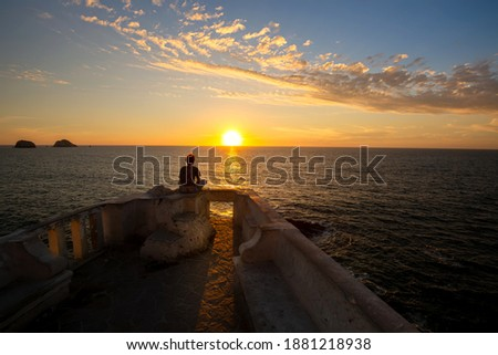 Famous Mazatlan sea promenade, El Malecon, with ocean lookouts and scenic landscapes. Royalty-Free Stock Photo #1881218938