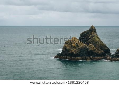 Rocks and beach at kynance cove Cornwall