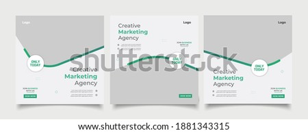 Digital business marketing banner for social media post template  Royalty-Free Stock Photo #1881343315