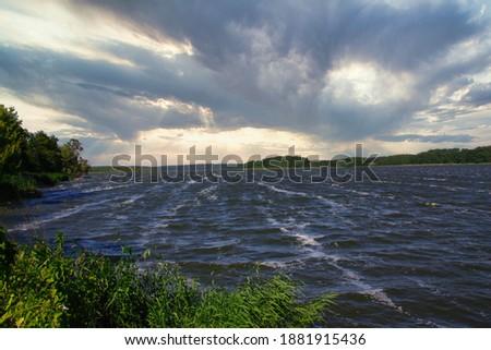 the Lake Schmollensee on Usedom,baltic Sea,Mecklenburg western Pomerania,Germany Royalty-Free Stock Photo #1881915436