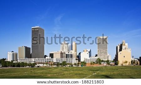 Skyline of Oklahoma City, Oklahoma.
