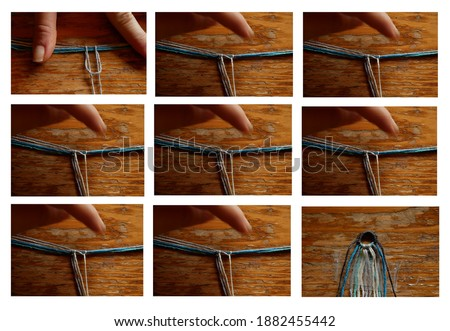 9 pictures tutorial for friendship bracelet beginning knots