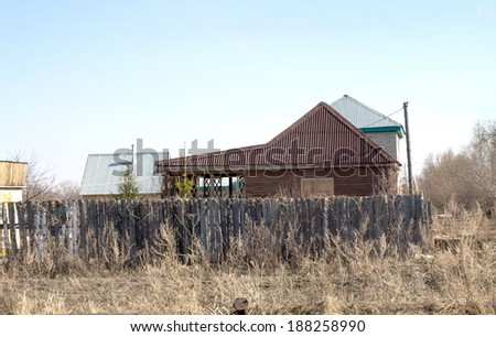 private house in the village nature spring #188258990
