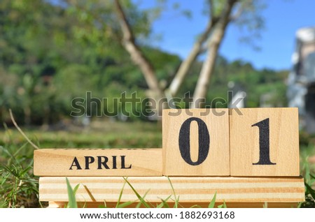 April 1, Cover natural background for your business. Royalty-Free Stock Photo #1882693168