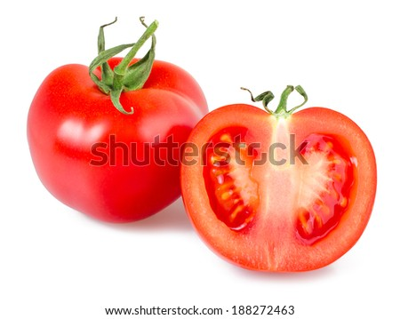 Tomatoes on white background, closeup, isolated #188272463