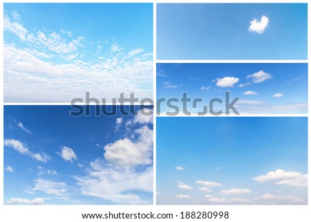 set of clouds in the blue sky. #188280998