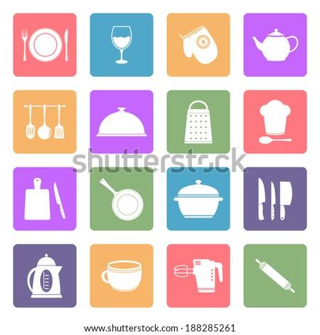Kitchen utensil icons  #188285261