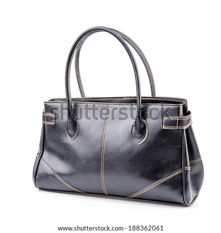 Woman leather bag isolated white background #188362061